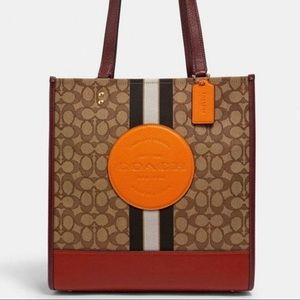 NWT COACH Dempsey Tote Bag In Signature Jacquard With Stripe And Coach Patch